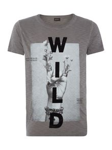 Diesel Regular fit wild printed t shirt