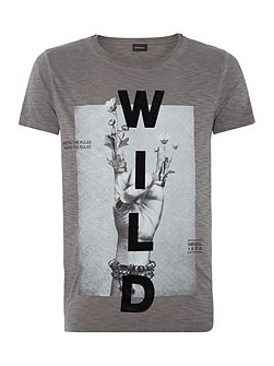 Regular fit wild printed t shirt