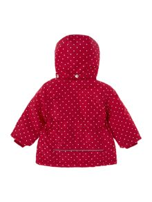 name it Girls Polka Dot print zip hooded Jacket