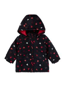 name it Girls Heart print hooded Jacket