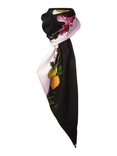 Ted Baker Casana citrus bloom skinny scarf
