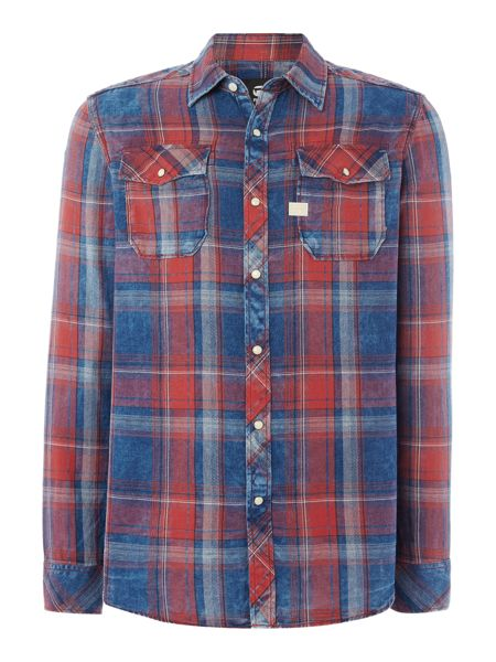 G-Star Landoh Flannel Check Long Sleeve Shirt