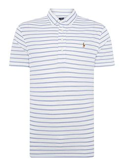 Custom-Fit Oxford Stripe Pique Polo