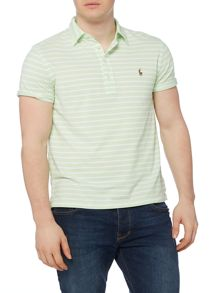 Polo Ralph Lauren Custom-Fit Oxford Stripe Pique Polo