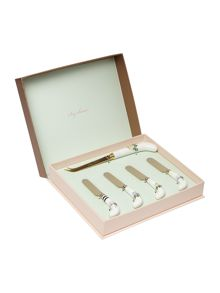 Ted Baker Rosie Lee Cheese Knife and Set of 4 Spreaders