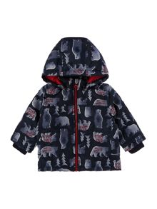 name it Boys Bear Print jacket with hood