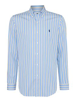 Stripe Custom Fit Long Sleeve Shirt
