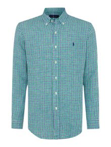 Polo Ralph Lauren Check Custom Fit Long Sleeve Check Sports Shirt