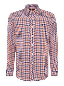 Check Custom Fit Long Sleeve Check Sports Shirt