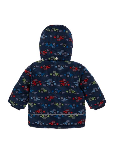 name it Boys Tractor Print jacket with hood