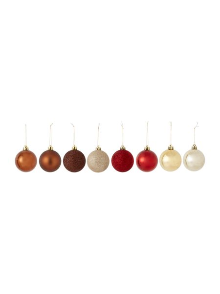 Linea Set of 16 Rustic Retreat shatterproof baubles