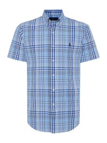 Polo Ralph Lauren Slim Fit Seersucker Short Sleeve Check Shirt