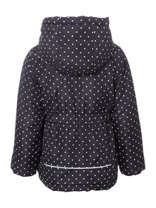 name it Girls Polka Dot Jacket With Hood