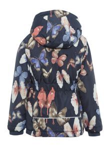 name it Girls Butterfly Print Jacket With Hood