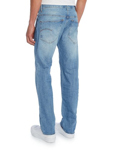 G-Star 3301 Hadron Straight Fit Stretch Med Aged Jeans