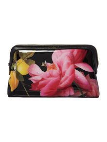 Ted Baker Januar black large cosmetic bag