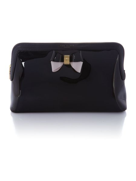 Ted Baker Madlynn black large cosmetic bag