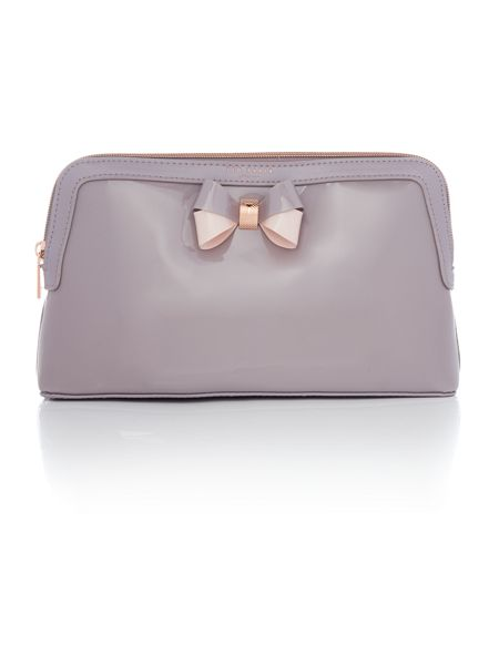 Ted Baker Madlynn grey large cosmetic bag
