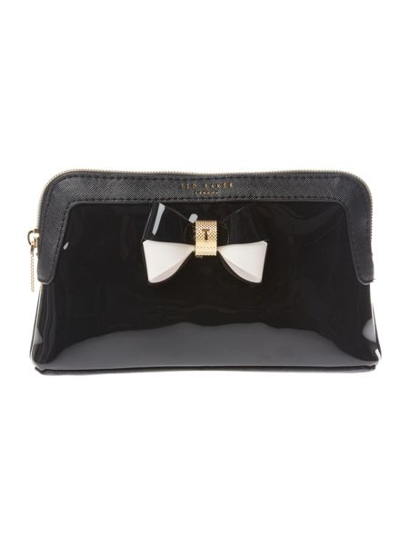 Ted Baker Rosamm black small cosmetic bag