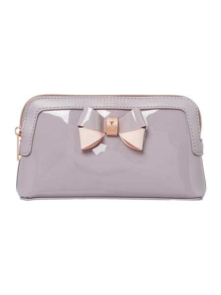 Ted Baker Rosamm grey small cosmetic bag