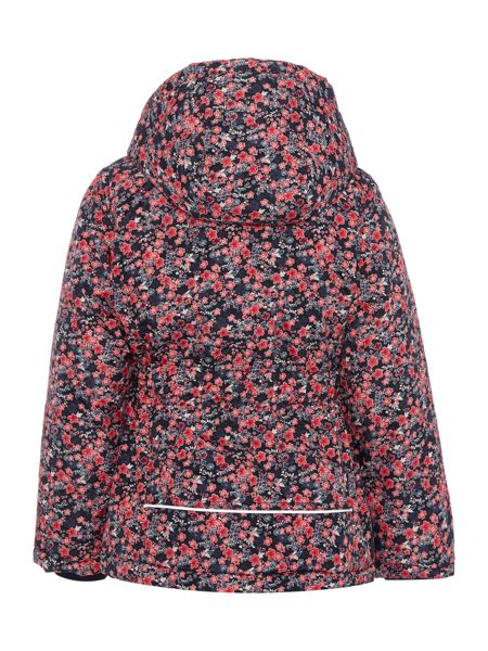 name it Girls Ditsy Floral Print Jacket With Hood