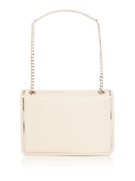 Love Moschino Belt ivory medium flapover shoulder bag