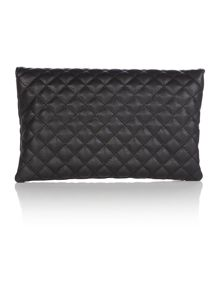Love Moschino Superquilt black clutch bag