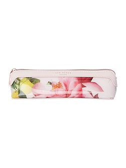 Kelsee pink floral pencil case