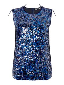 Sportmax Code Juglas sleeveless sequin front top