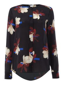Sportmax Code Occhio long sleeve floral print shirt