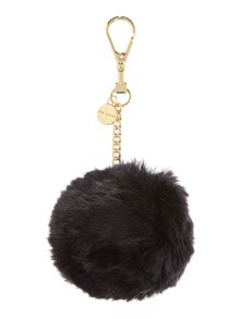 Ted Baker Ren black faux fur bag charm