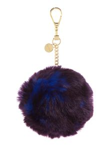 Ted Baker Ren blue faux fur bag charm