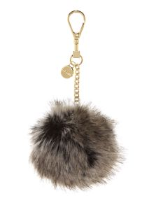 Ted Baker Ren neutral faux fur bag charm