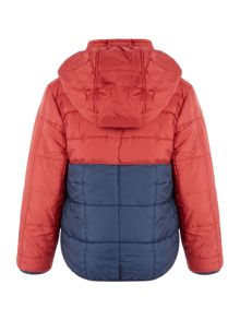 name it Boys Padded Contrast Hooded Jacket