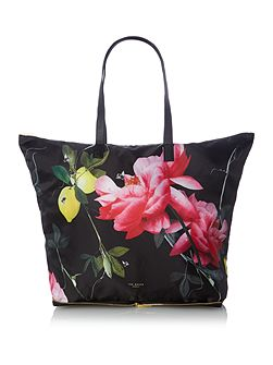Geralyn multicolour foldaway tote bag