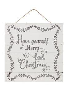 Linea Merry little Christmas sign