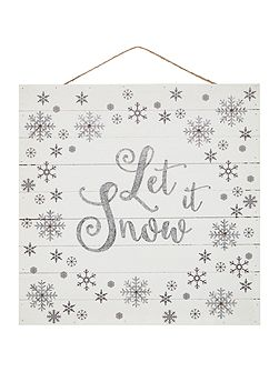 Let it snow light up sign
