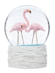 Linea Flamingo Snow Globe
