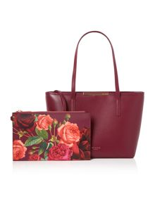 Ted Baker Joriana burgundy medium tote bag