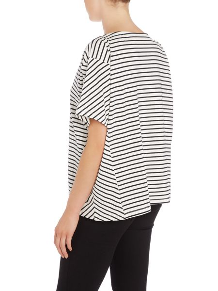 Soaked in Luxury Oversized Striped T-Shirt