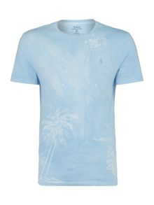 Polo Ralph Lauren Faded Palm Print Crew Neck Tee