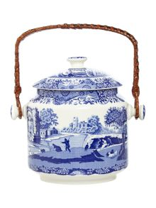 Spode Blue Italian 200th Anniversary Biscuit Barrel
