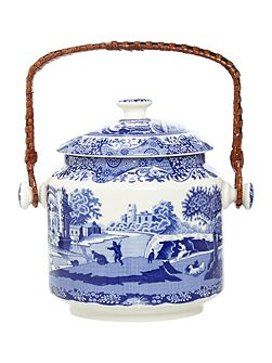 Blue Italian 200th Anniversary Biscuit Barrel