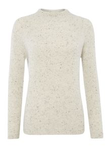 Gray & Willow Cashmere funnel neck fleck jumper