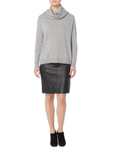 Gray & Willow Cowl neck cashmere long line jumper