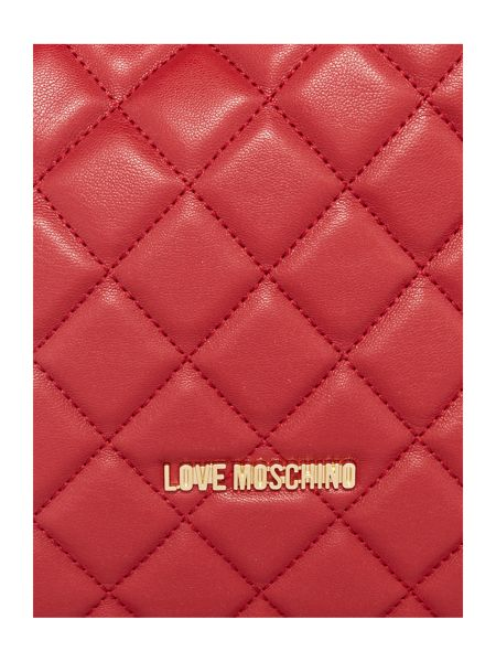 Love Moschino Super quilt red backpack