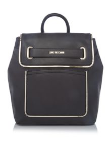 Love Moschino Belt black backpack