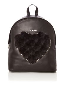 Love Moschino Pom Pom black backpack