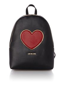 Love Moschino Heart black backpack