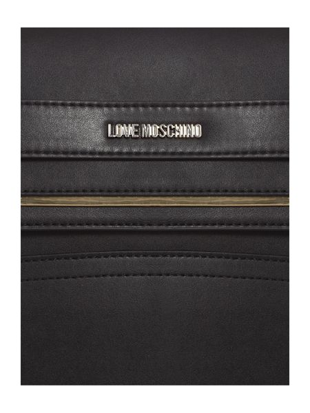 Love Moschino Belt black large tote bag
